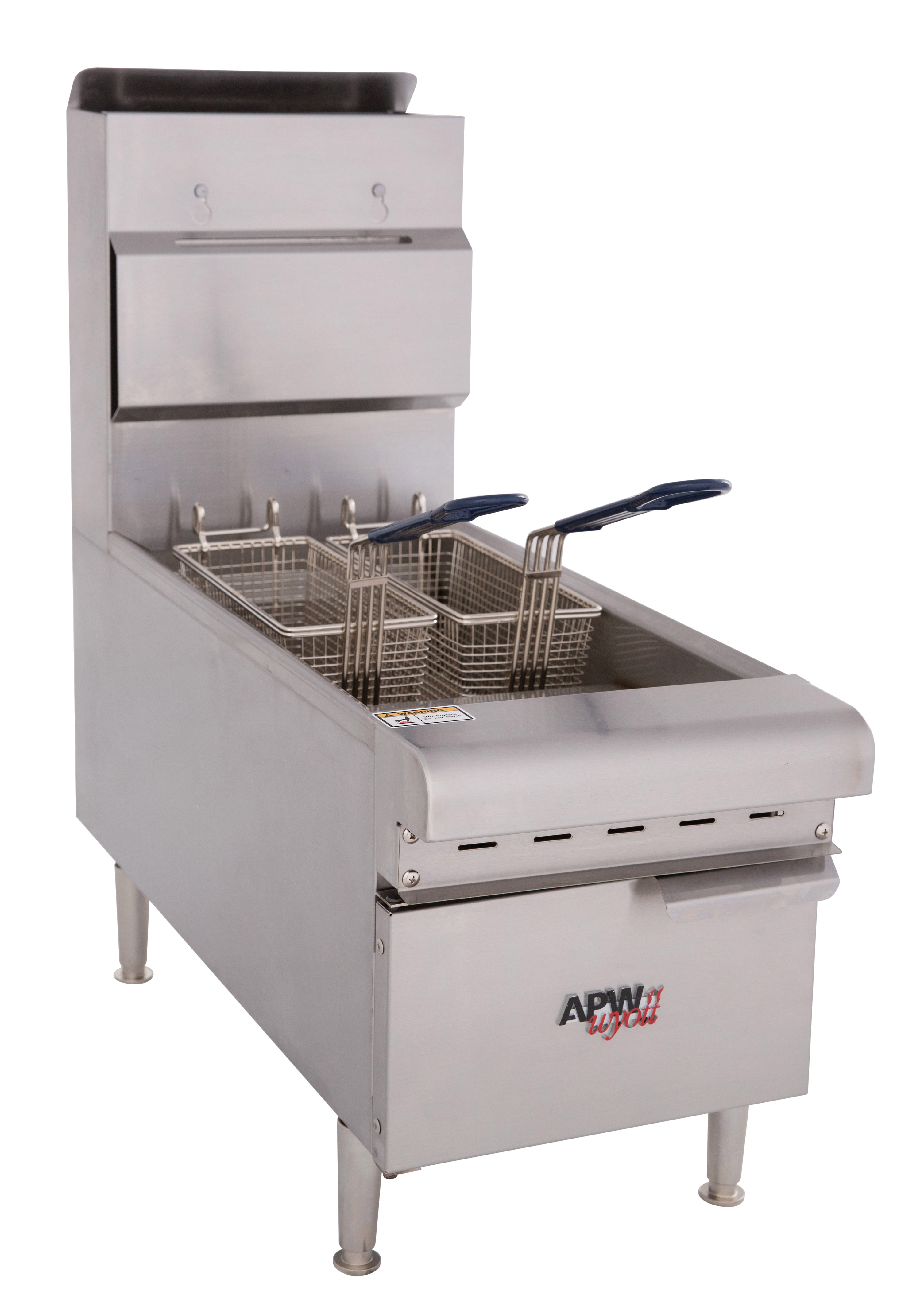 APW Wyott APW-F15C fryer, gas, countertop, full pot
