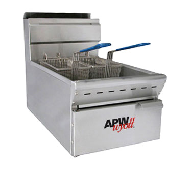 APW Wyott APW-F25C fryer, gas, countertop, full pot