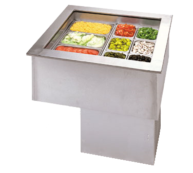 APW Wyott CW-6 cold food well unit, drop-in, refrigerated