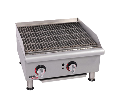 APW Wyott GCB-36I-CE charbroiler, gas, countertop