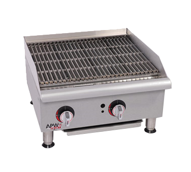 APW Wyott GCRB-24I-CE charbroiler, gas, countertop