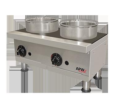 APW Wyott GHPW-2I hotplate, countertop, gas