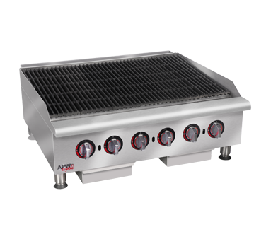 APW Wyott HCRB-2448I charbroiler, gas, countertop
