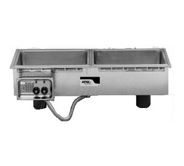 APW Wyott HFWS-3 hot food well unit, drop-in, electric