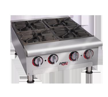 APW Wyott HHP-424I hotplate, countertop, gas