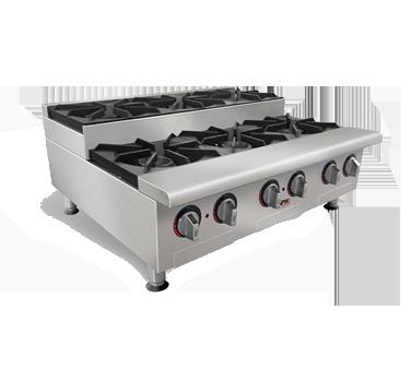 APW Wyott HHPS-636I hotplate, countertop, gas