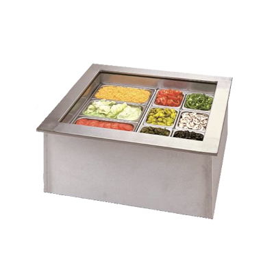 APW Wyott ICP-200 cold food well unit, drop-in, ice-cooled