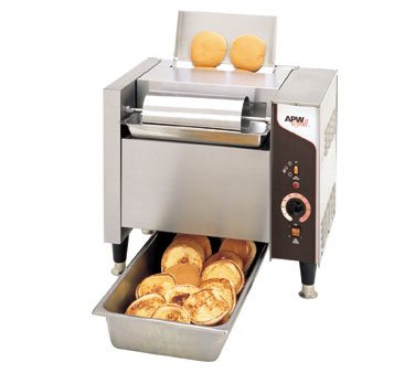 APW Wyott M-95-2LP-CE toaster, contact grill, conveyor type