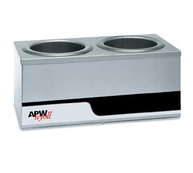 APW Wyott W4-2 food pan warmer, countertop