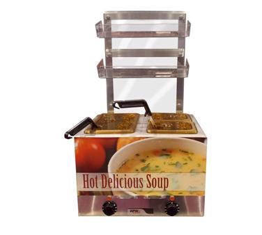 APW Wyott W-9ISP3 food pan warmer, countertop