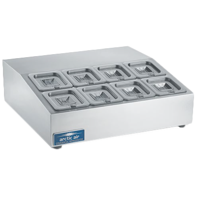 Arctic Air ACP8SQ refrigerated countertop pan rail