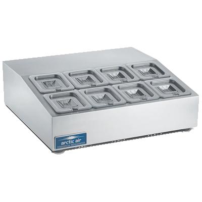 Arctic Air ACP8SQ refrigerated countertop pan rail