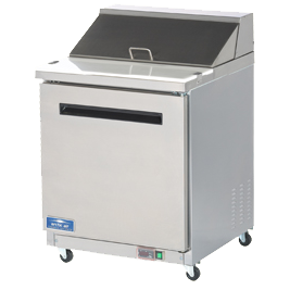Arctic Air AMT28R refrigerated counter, mega top sandwich / salad unit