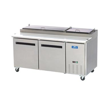 APP71R Arctic Air refrigerated counter, pizza prep table