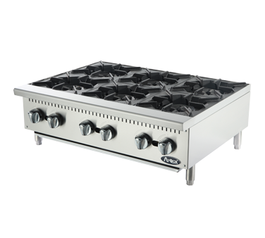 Atosa USA ATHP-36-6 hotplate, countertop, gas