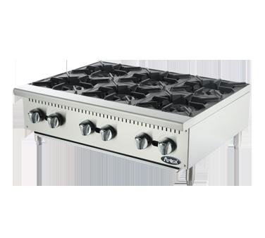 Atosa USA ATHP-36-6 hotplate, countertop, gas