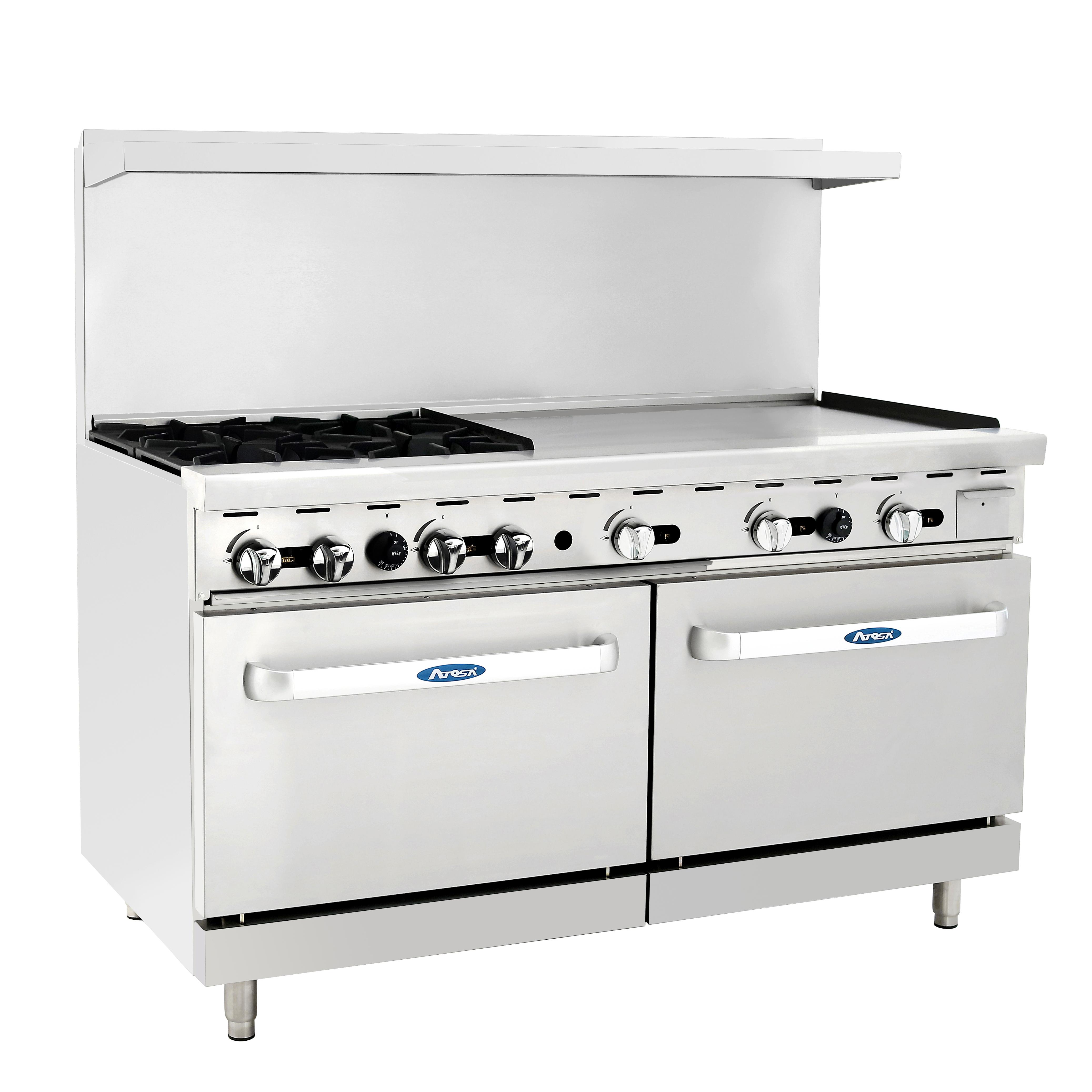 Atosa USA ATO-4B36G range, 60 restaurant, gas