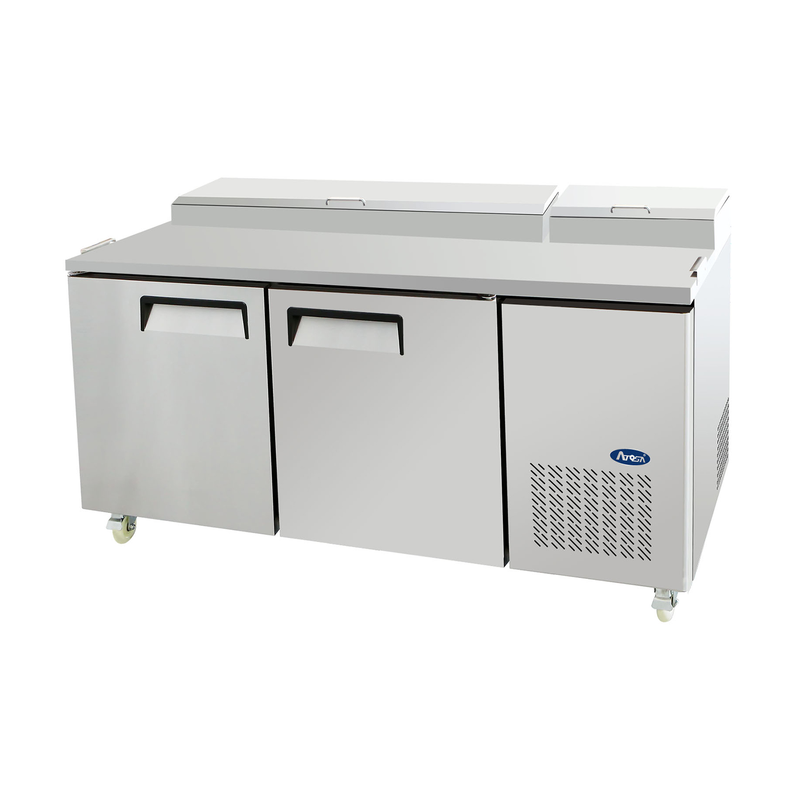 Atosa USA MPF8202GR refrigerated counter, pizza prep table