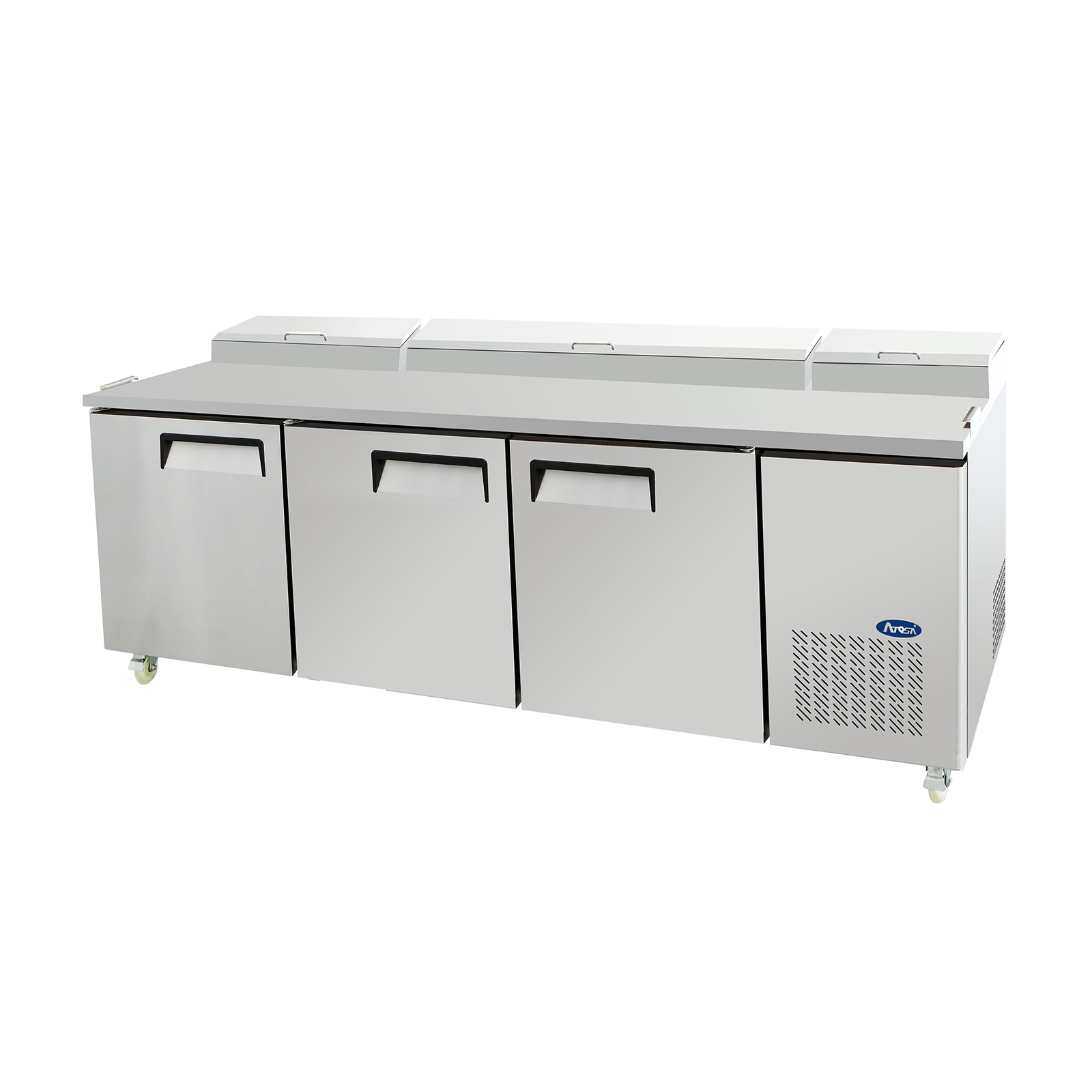 Atosa USA MPF8203GR refrigerated counter, pizza prep table