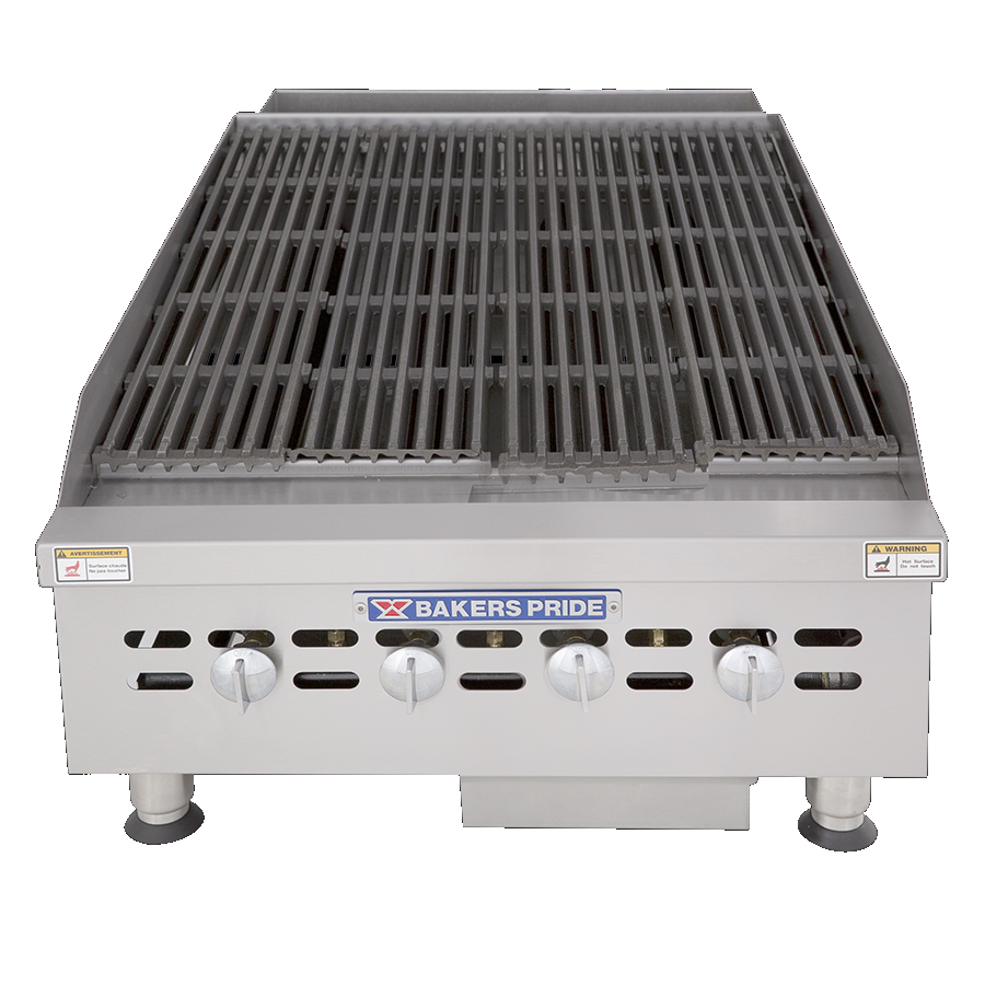 Bakers Pride BPHCB-2424I charbroiler, gas, countertop