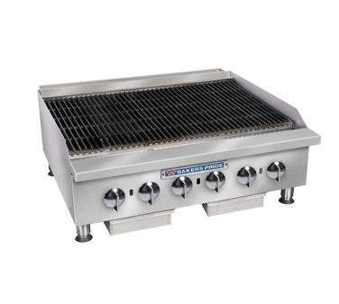 Bakers Pride BPHCB-2448I charbroiler, gas, countertop