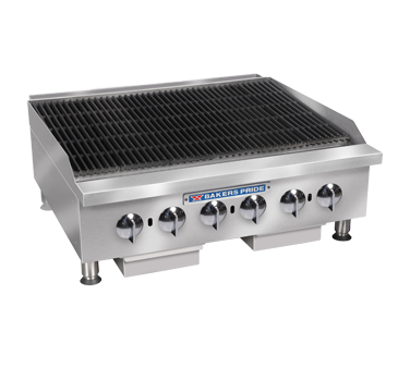 Bakers Pride BPHCRB-2436I charbroiler, gas, countertop