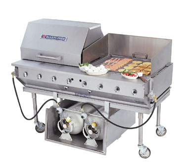 Bakers Pride CBBQ-30S-P charbroiler, gas, outdoor grill