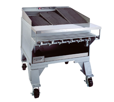 Bakers Pride CH-6 charbroiler, gas, floor model