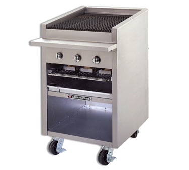 Bakers Pride F-24R charbroiler, gas, floor model