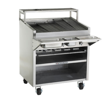 Bakers Pride F-48R charbroiler, gas, floor model