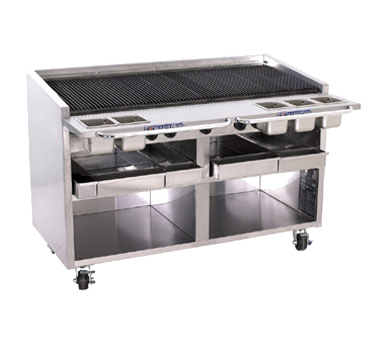 Bakers Pride F-60R charbroiler, gas, floor model
