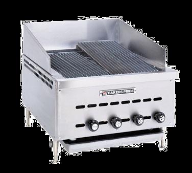 Bakers Pride XXE-6 charbroiler, gas, countertop
