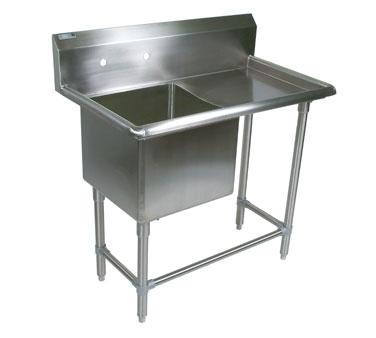 John Boos 1PB18-1D18R sink, (1) one compartment