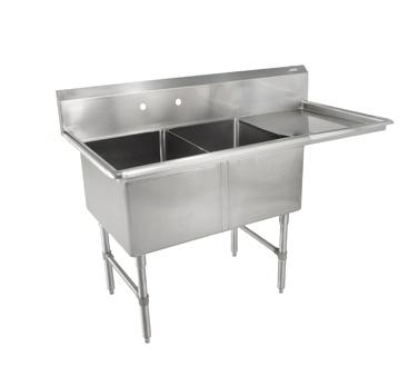 John Boos 2B244-1D24R sink, (2) two compartment