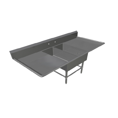 John Boos 2PB1431-2D30 sink, (2) two compartment