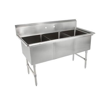 John Boos 3B244 sink, (3) three compartment