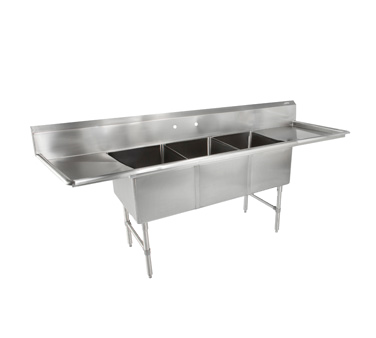 John Boos 3B244-2D24 sink, (3) three compartment