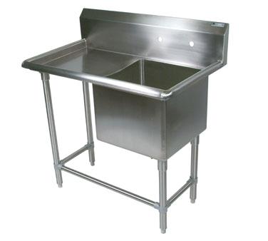 John Boos 41PB1620-1D24L sink, (1) one compartment