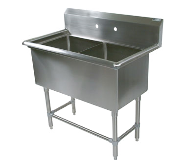 John Boos 42PB16204 sink, (2) two compartment