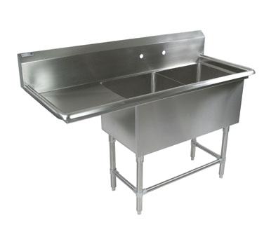 John Boos 42PB204-1D18L sink, (2) two compartment