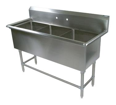 John Boos 43PB1620 sink, (3) three compartment