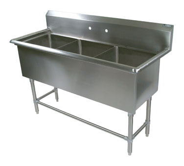 John Boos 43PB16204 sink, (3) three compartment