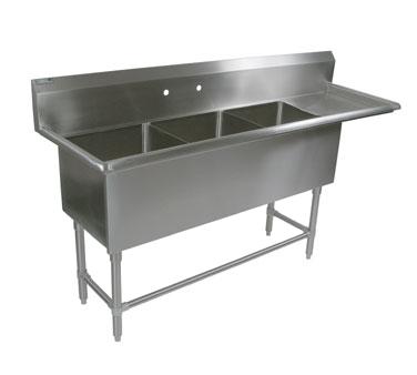 John Boos 43PB16204-1D18R sink, (3) three compartment