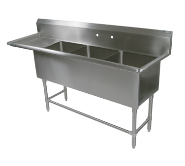 John Boos 43PB204-1D24L sink, (3) three compartment