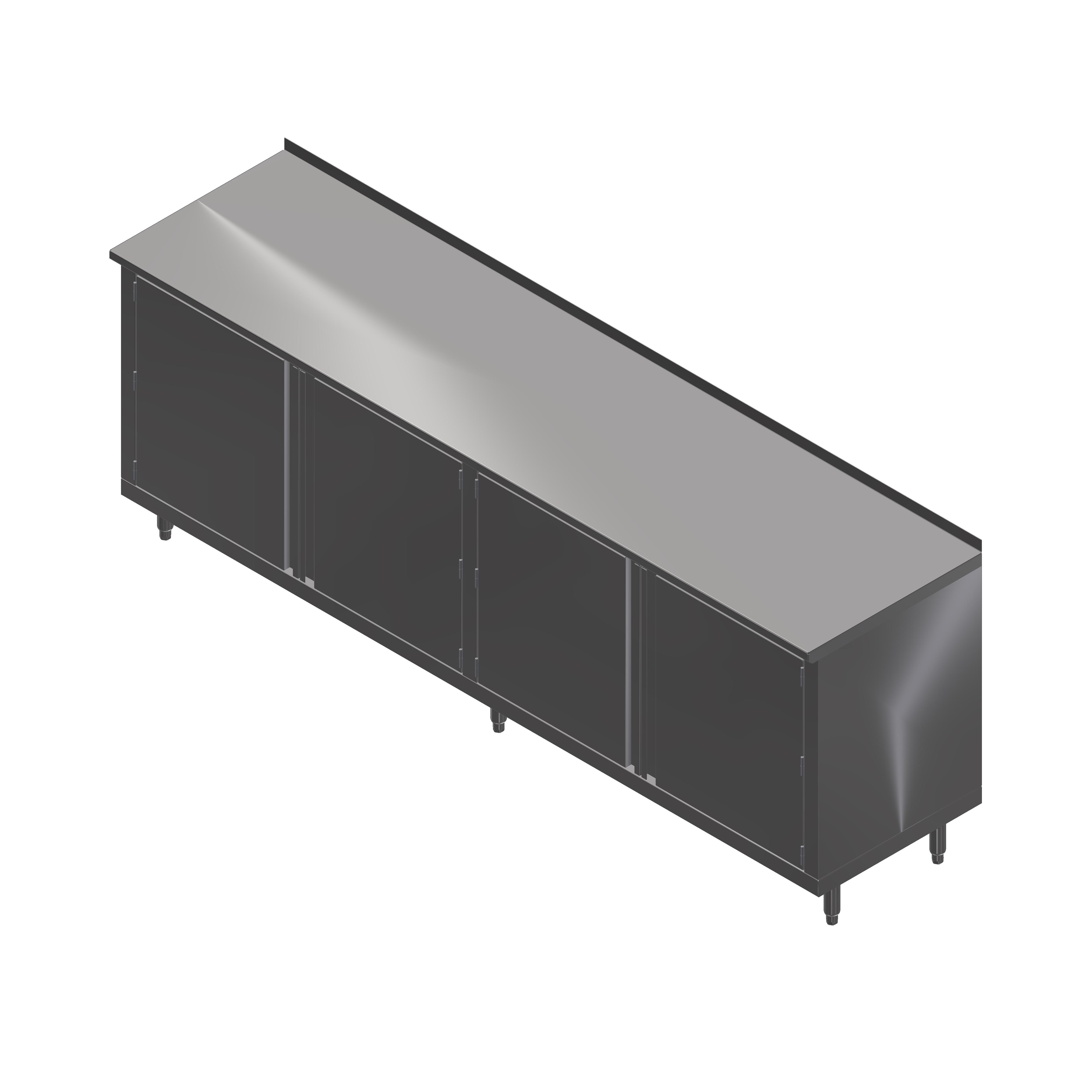 John Boos 4CH4R1.5-30144 work table, cabinet base hinged doors