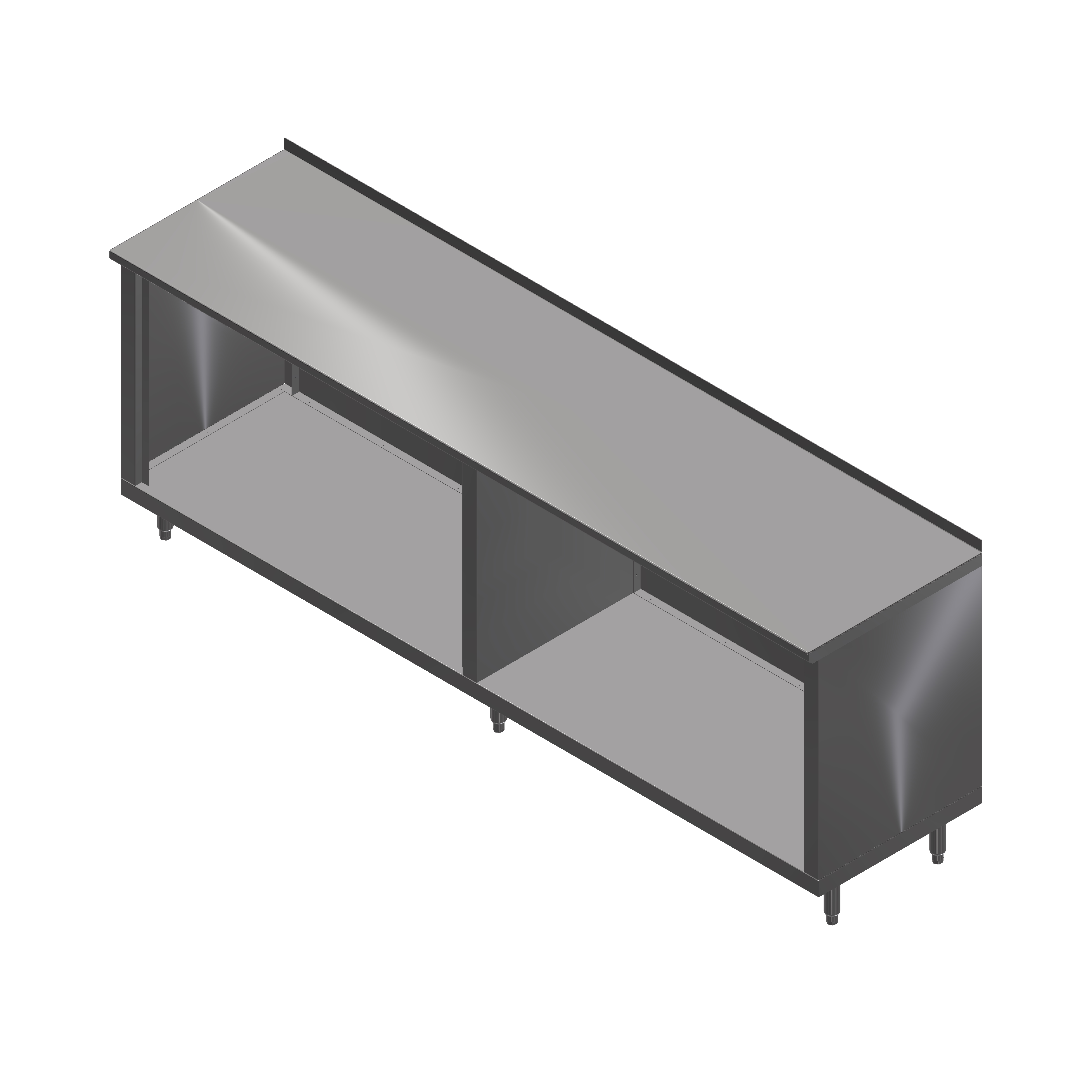 John Boos 4CO4R1.5-36144 work table, cabinet base open front