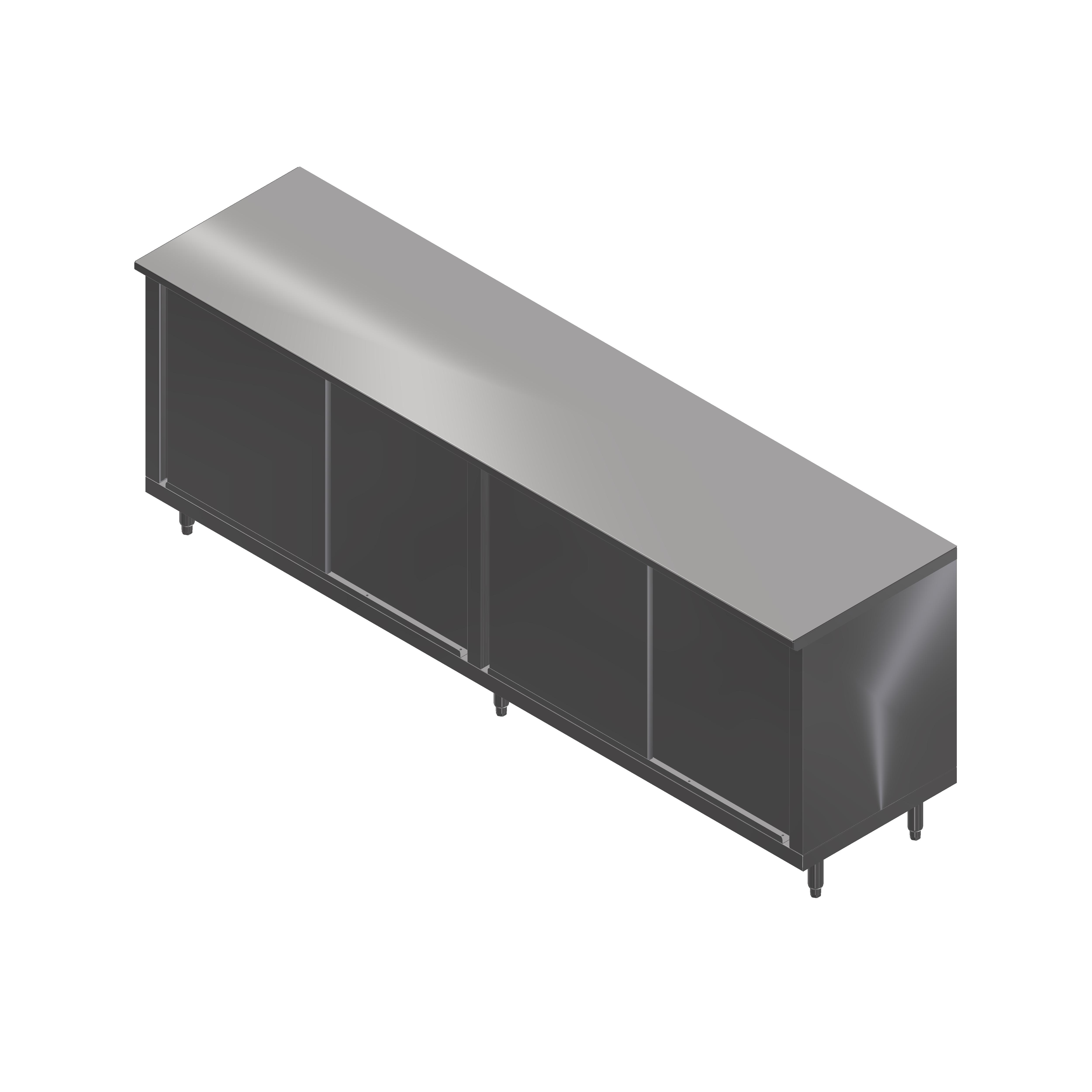 John Boos 4CS4-30144 work table, cabinet base sliding doors