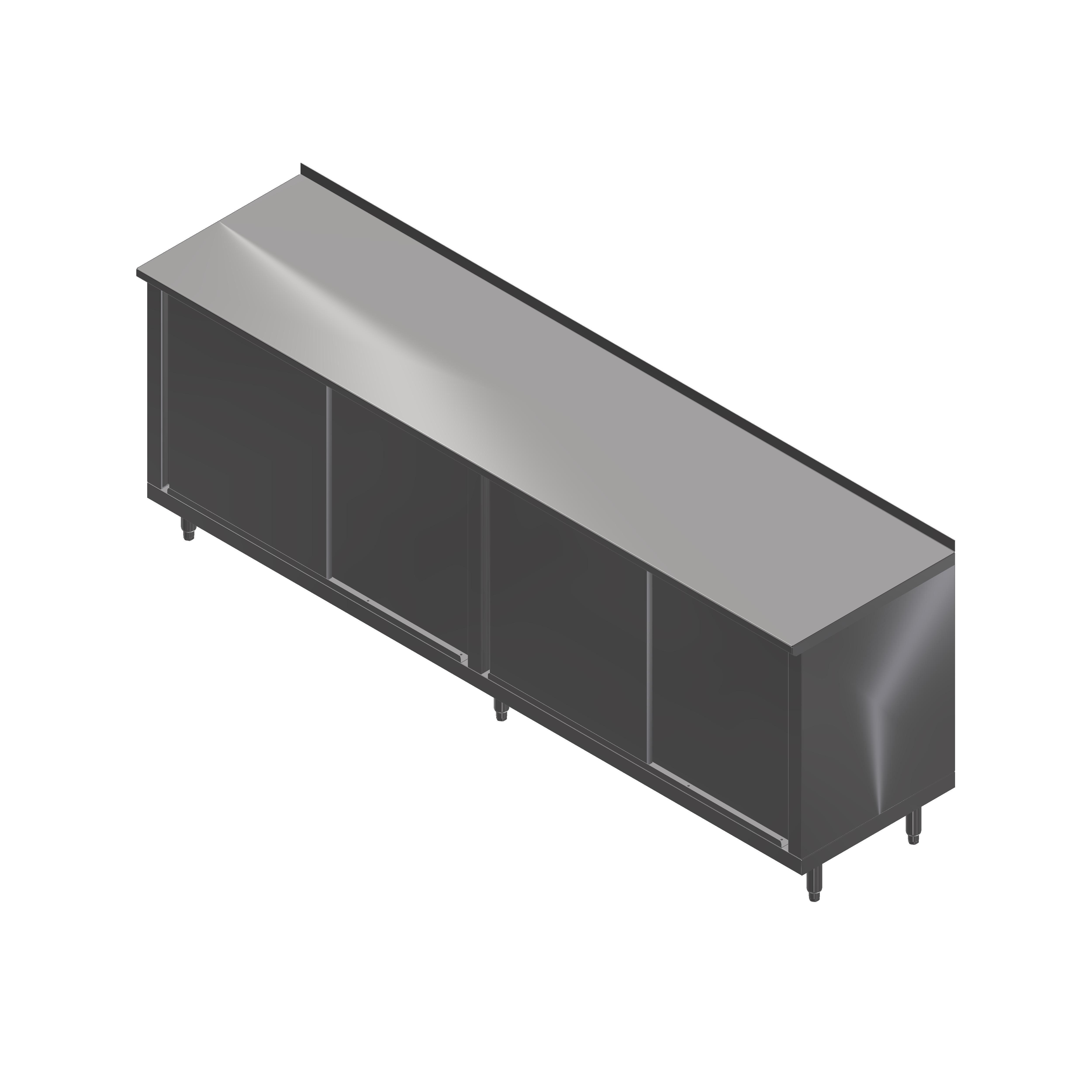 John Boos 4CS4R1.5-36120 work table, cabinet base sliding doors