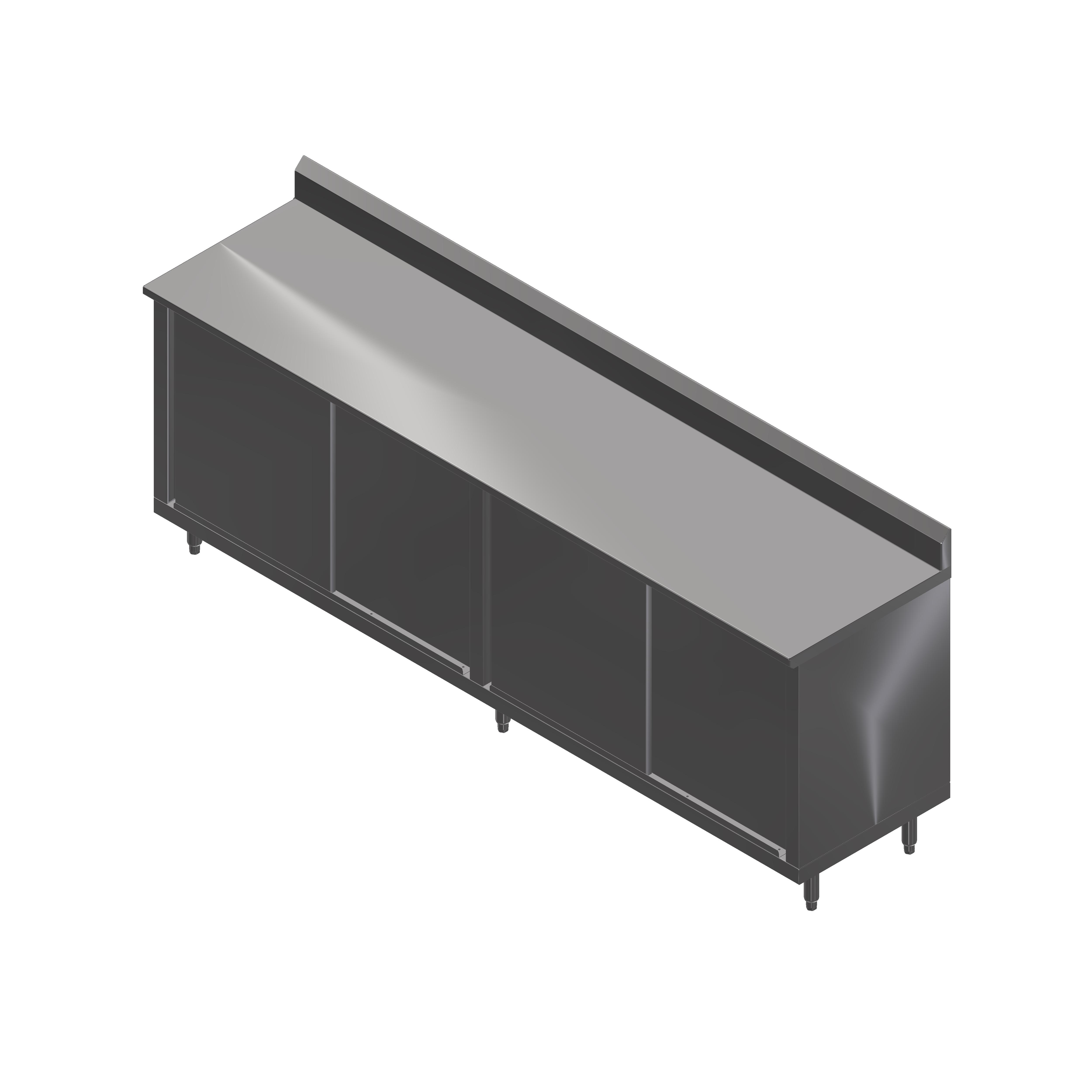 John Boos 4CS4R5-2484 work table, cabinet base sliding doors