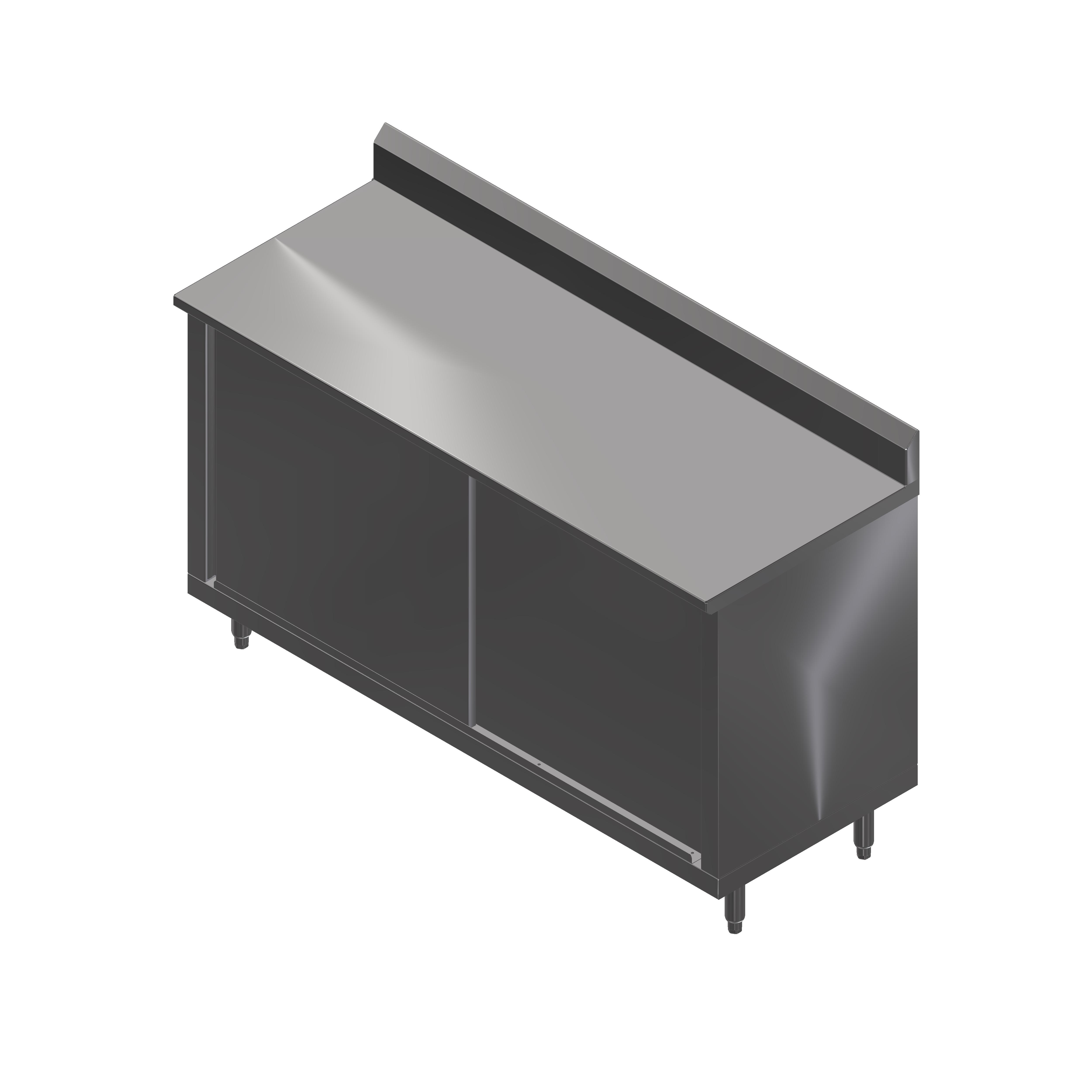 John Boos 4CS4R5-3648 work table, cabinet base sliding doors